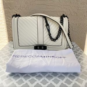 Rebecca Minkoff White Quilted Love Crossbody